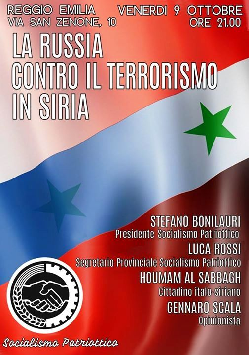 SYRIA - Soutien meeting SP (2015 10 06) IT + FR