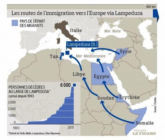 LIGNE ROUGE - amtv LM cartes immigration Libye (2016 12 08) (2)