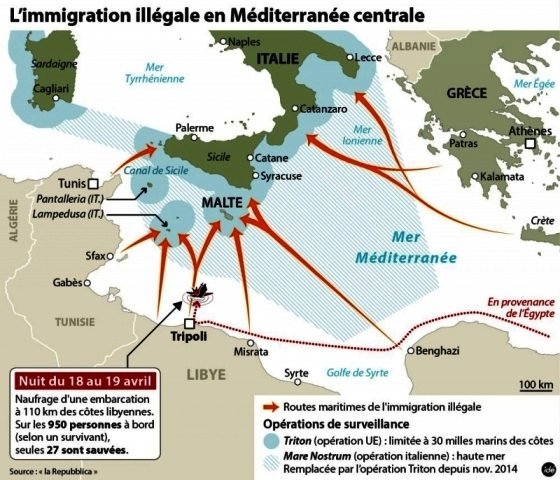 LIGNE ROUGE - amtv LM cartes immigration Libye (2016 12 08) (5)