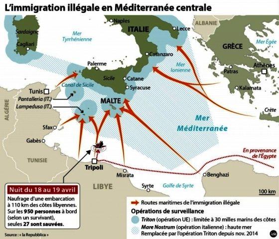 LIGNE ROUGE - amtv LM cartes immigration Libye (2016 12 08) (5)