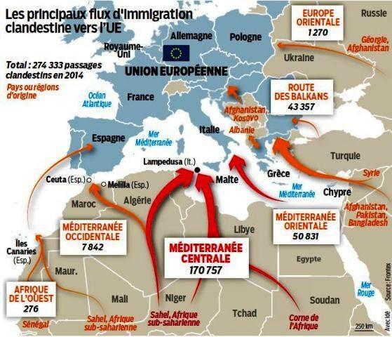 LIGNE ROUGE - amtv LM cartes immigration Libye (2016 12 08) (6)