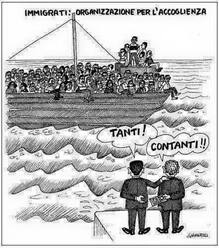 immigrazione-accoglienza-truffa-vignetta-giannelli