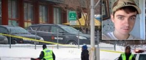 epa05761393 Municipal police patrols the scene where two gunmen opened fire in a Quebec City mosque during evening prayers on 29 January, killing six people and injuring eight others, at the Quebec Islamic Cultural Centre in Quebec City, Quebec, Canada, 30 January 2017. According to the police, six people were killed and another eight were wounded in a shooting at a Mosque during evening prayers on 29 January. Two suspects have been taken into custody. Canadian Prime Minister Justin Trudeau described the incident as a 'terrorist attack on Muslims,' media reported quoting his statement. EPA/ANDRE PICHETTE