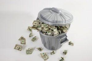 soldi spazzatura