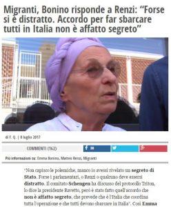 bonino sbarchi Italia