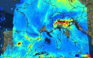 mappa satellite inquinamento