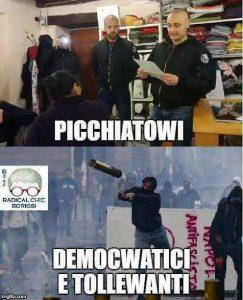 picchiatori nazi e democratici