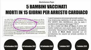 vaccino morti