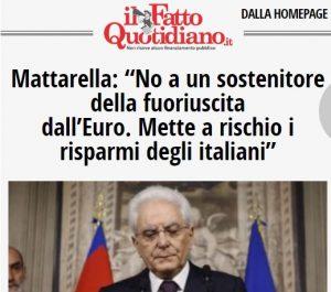 mattarella risparmi italiani