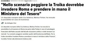 troika invadere roma